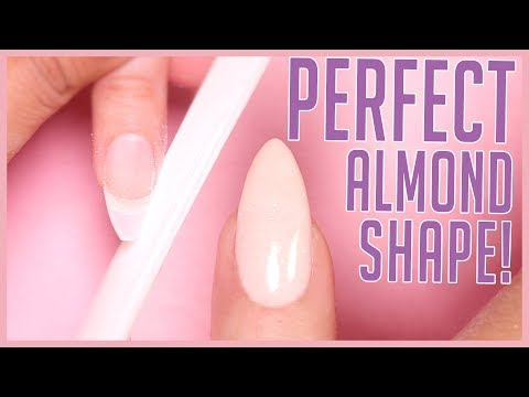 How to Shape an Almond Nail   Shaping Tutorial