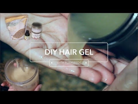 DIY Homemade Hair Gel With Flaxseeds For All Hair Types