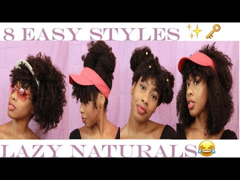 Summer Style Lookbook for the Lazy Natural | 8 Hairstyles! (medium/long hair)
