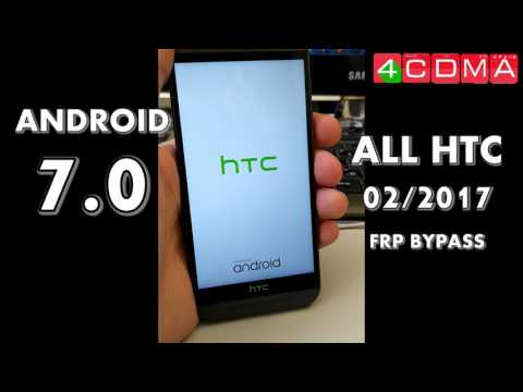 ALL HTC Android 7.0 Google Account Lock Bypass | FEB 2017 | How To Tutorial