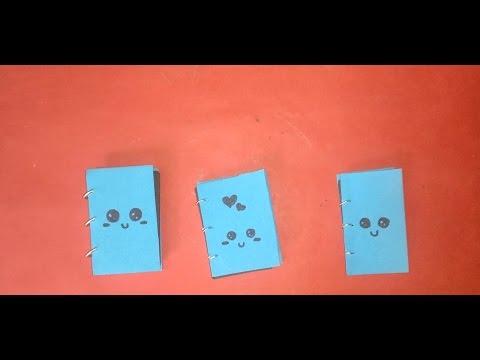 how to make miniature diary   small   tiny   book