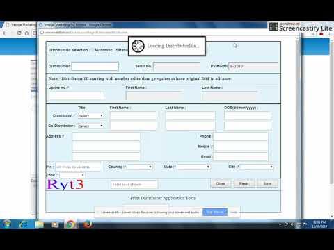 How to fill Vestige application form online