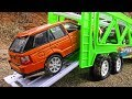 Toy Cars Transportation Through Sand And Snow By Car Transporter More