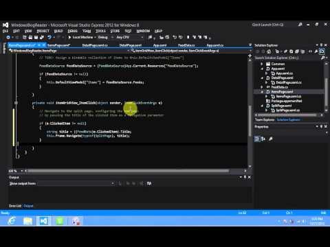 Windows 8 Development - Navigation via ItemClick Event