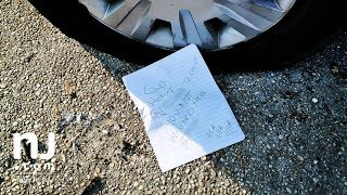 Racist note and flattened tire left for Mount Holly woman