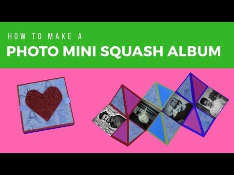How to make Photo Mini Album | Squash Book | Quick Photo Album