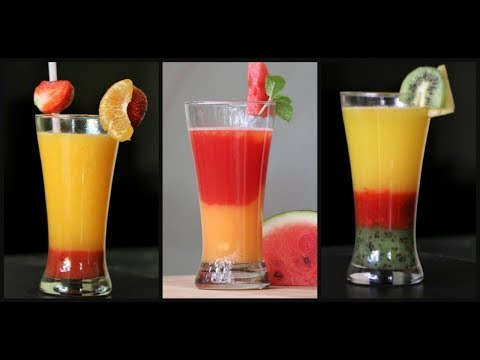 Mocktail Recipes | Mocktails for Kids | How to make simple layered fruit mocktails at home?