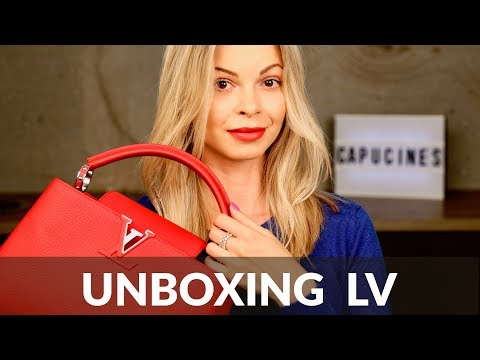 LOUIS VUITTON CAPUCINES: unboxing + review
