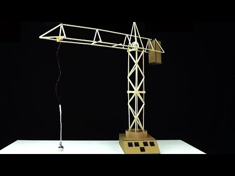 How to make a Magnetic Crane Elevator from icecream sticks.