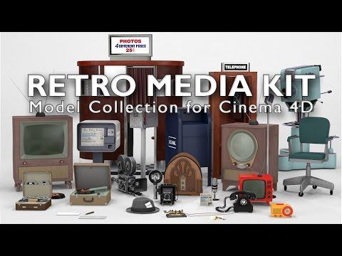 Retro Media Kit for Cinema 4D