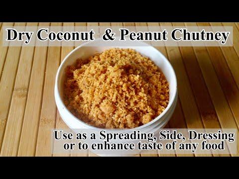 Dry Chutney Recipe | How to make Dry Coconut and Peanut Chutney | In Hindi