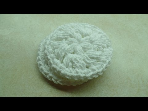 CROCHET How to #Crochet Easy Washable Reusable Face Scrubby MakeUp Remover Pad #TUTORIAL #240 LEARN