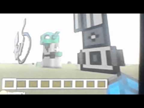 Minecraft yoda statue and obi ones lightsaber