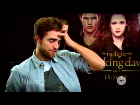 Robert Pattinson interview on The Project (2012) - The Twilight Saga: Breaking Dawn