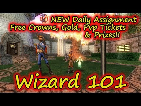 Wizard101: Test Realm New Daily Assignment - Free Gold, Crowns, and PvP Tickets!