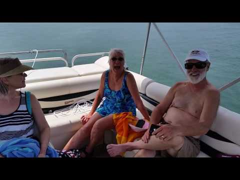 Dave on South Holston Lake Tennessee on a pontoon boat
