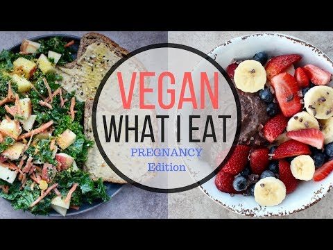 VEGAN PREGNANCY WHAT I EAT IN A DAY #52 | Upset Stomach & Recipe Testing