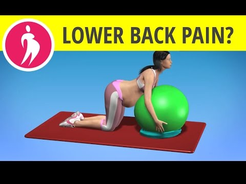 Lower Back Exercise with Fitness Ball during Pregnancy