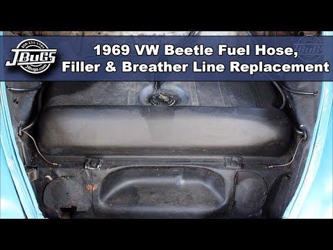 JBugs - 1969 VW Beetle - Fuel Hose, Filler & Breather Line Replacement