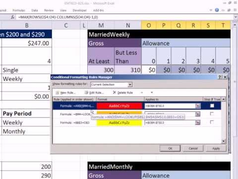Excel Magic Trick 823: Conditional Formatting Row, Column, Intersecting and Specific Table 2 Methods