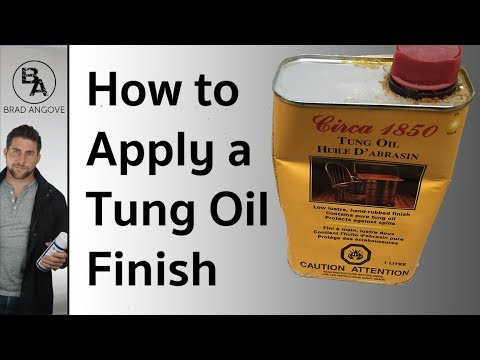 How to Apply A Tung Oil Finish (Part 1)
