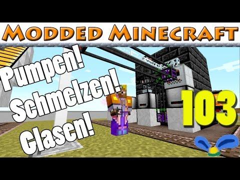 Modded Minecraft E103 - Mehr und weniger klares Glas aus der Resteverwertung
