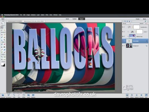 Creating a montage using clipping mask in Photoshop Elements