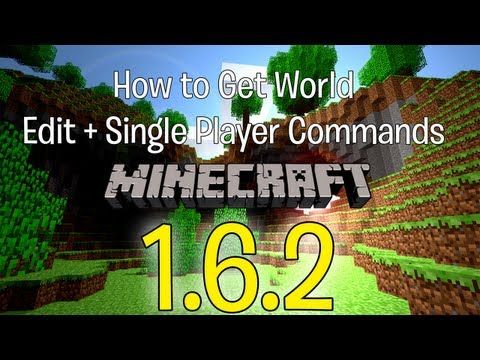 Minecraft - Tutorial - How to install World Edit + Single Player Commands 1.6.2