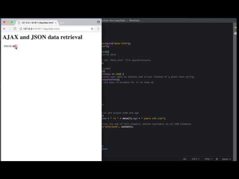 How To Access a JSON File Using AJAX in Javascript
