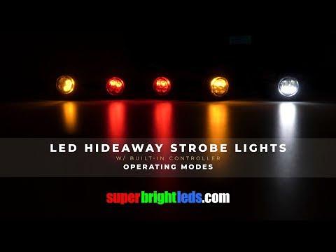 LED Hideaway Strobe Light Operating Modes