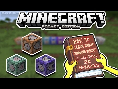 HOW TO USE COMMAND BLOCKS IN MINECRAFT PE IN LESS THAN 20 MINUTES!!