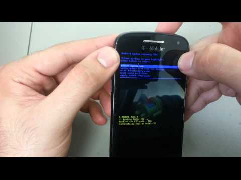 How to Hard Reset T-Mobile Samsung Relay 4G Android 4.0 Remove Password