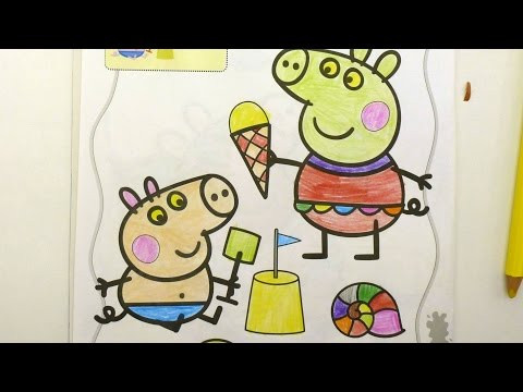 Peppa Pig ice cream Coloring Pages Learning Brilliant Colors