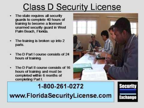 Florida Class D Security License West Palm Beach