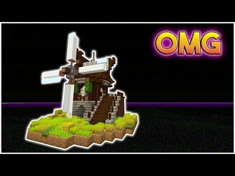 Minecraft: How To Build A Windmill Tutorial | Beautiful Medieval Windmil (Rustic)