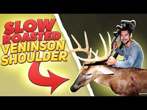 Slow Roasted Venison Shoulder! Deer Meat For Dinner!