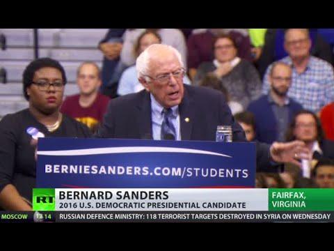 'Free education, healthcare & federal minimum wage' – Bernie Sanders in Virginia rally