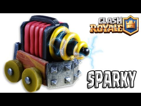 How to Make SPARKY / CHISPITAS | Clash Royale | Cold Porcelain / Polymer Clay Tutorial