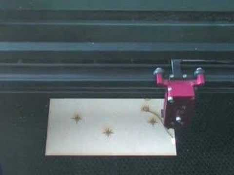 Laser-cutter in action!