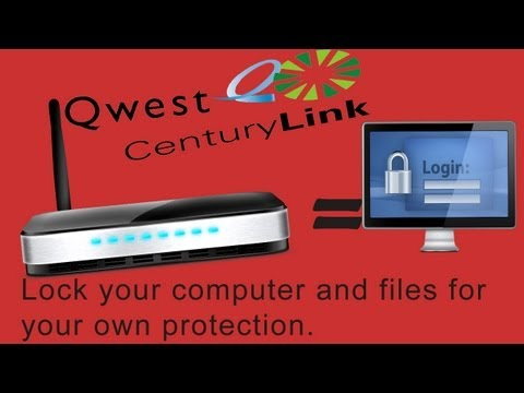 How To Secure A CenturyLink Wireless Router/Modem