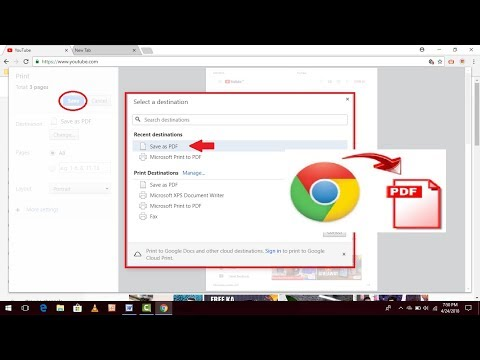 How to Convert Webpage Into PDF File In Google Chrome Without Any Software