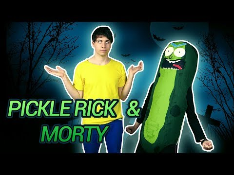 Pickle Rick and Morty Halloween Costume