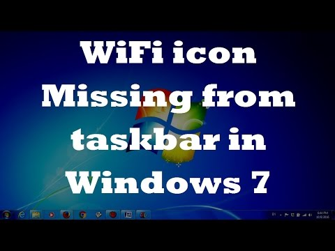 WiFi icon Missing from taskbar in Windows 7 - Two Fixes