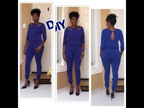 DIY Jumpsuit with Shoulder Slits