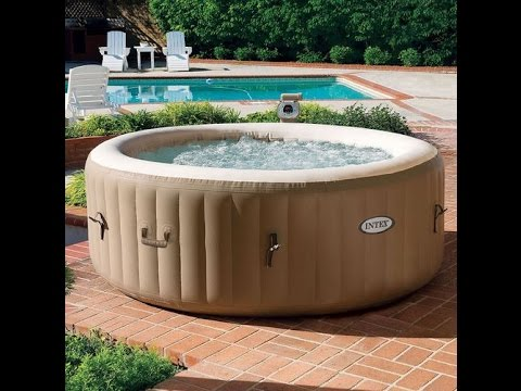 Best Inflatable Hot tub / Spa Review - Instructions - Tutorial - Intex portable