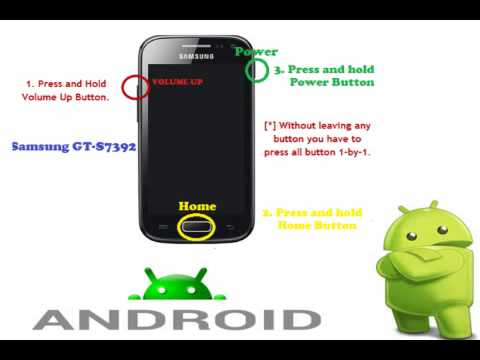 Samsung GT-S7392 recovery mode