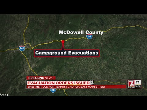Evacuation ordered at Catawba Falls Campground in McDowell Co.
