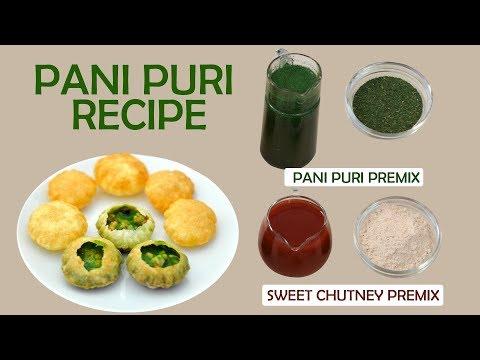 Pani Puri Pani Sweet Chutney Recipe How To Make Golgappa Puchka Street Food Recipes In 3 Minutes