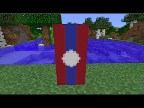 How to make the National Flag of Laos [LAO]//Minecraft