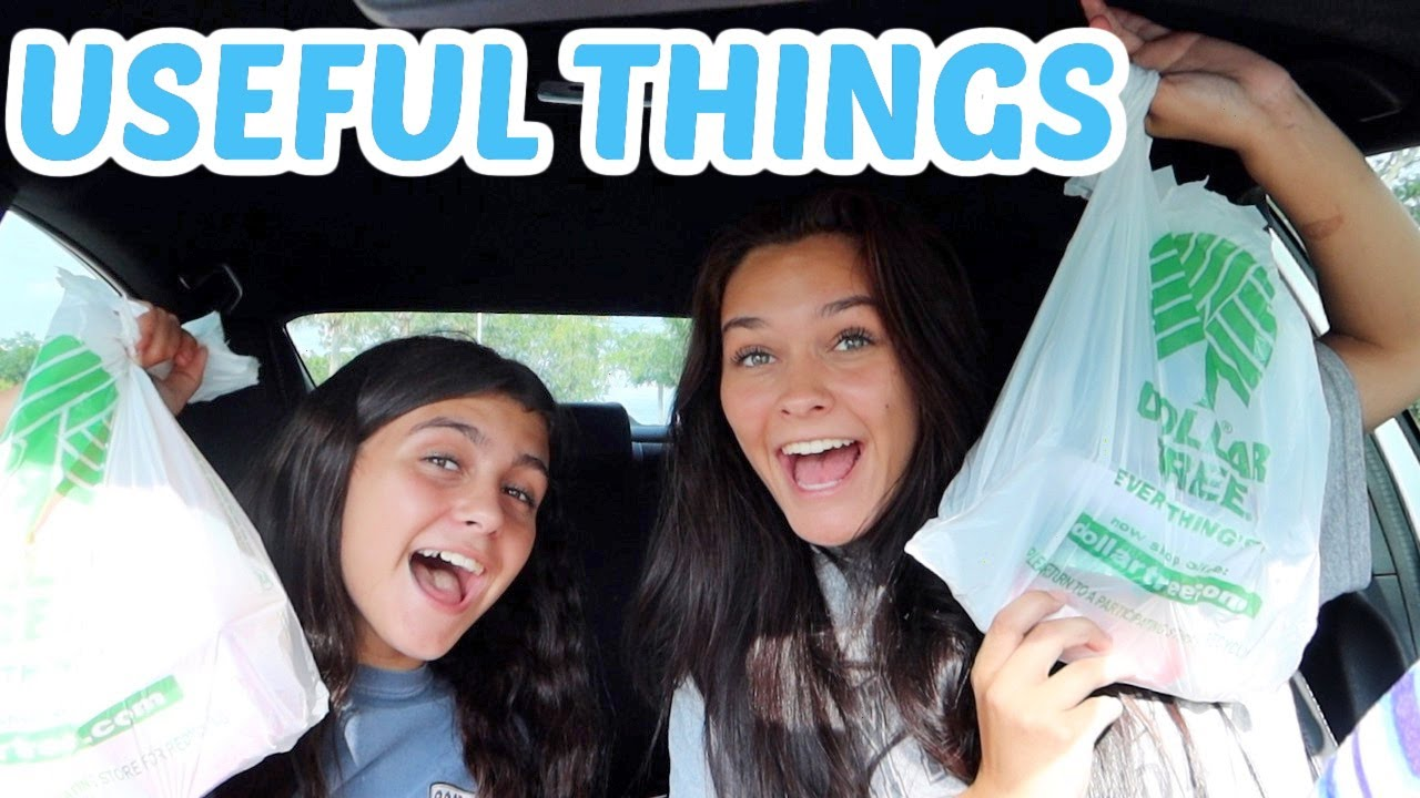 DOLLAR TREE SHOPPING HAUL OF USEFUL THINGS! EMMA AND ELLIE